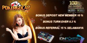 Bonus Turn Over 0.3% - Poker Online Indonesia